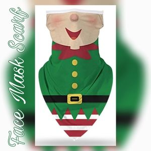 Unisex Face Mask Scarf, Santas Elf Helpers Jolly